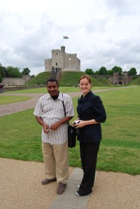 Aimen, Terhi and Cardiff Castle