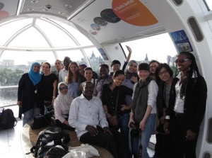 Inside our pod in the London Eye