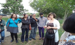 Here Frances Carey is introducing ITP participants to the park.
