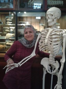 With a skeleton  at Zoology museum