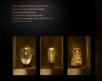 Funerary masks in Ancient Lives: New Discoveries.  Credit: The British Museum