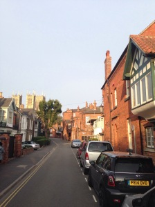 Street leading to our house, Lincoln