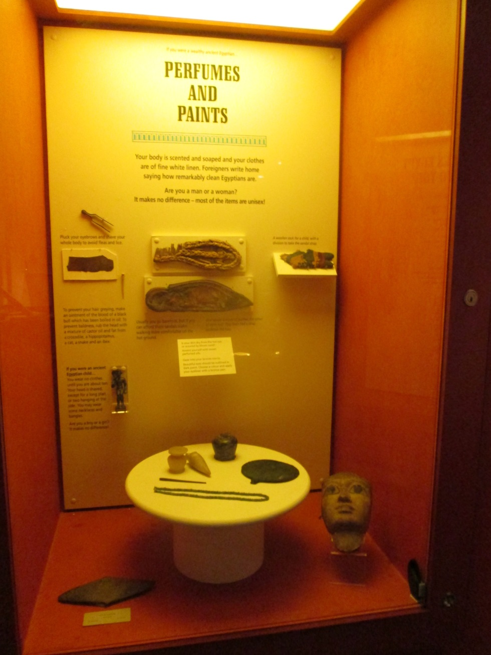 Part of the Egyptian collection display at New Walk Museum